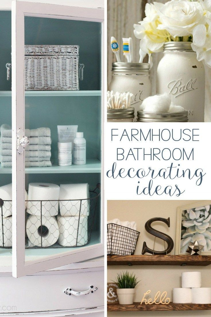 19 Amazing DIY Farmhouse Bathroom Decorating Ideas | Farmhouse Style ...