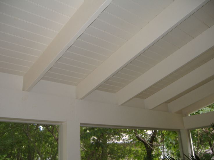 Exposed beams white porch deck pinterest porch for Open beam front porch