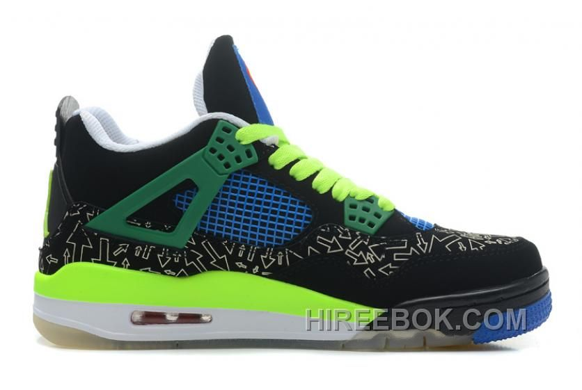 """Find New Air Jordan 4 Retro Doernbecher """"man"""" Black Old Royal-Electric  Green-White Super Deals online or in Yeezyboost. Shop Top Brands and the  latest ... 067ebbde2"""