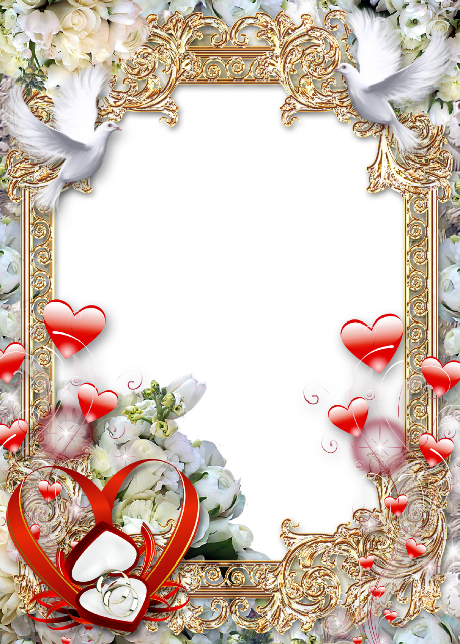 Wedding-Photo-Frame-Golden-Luxury.png (914×1280) | Wedding frames ...