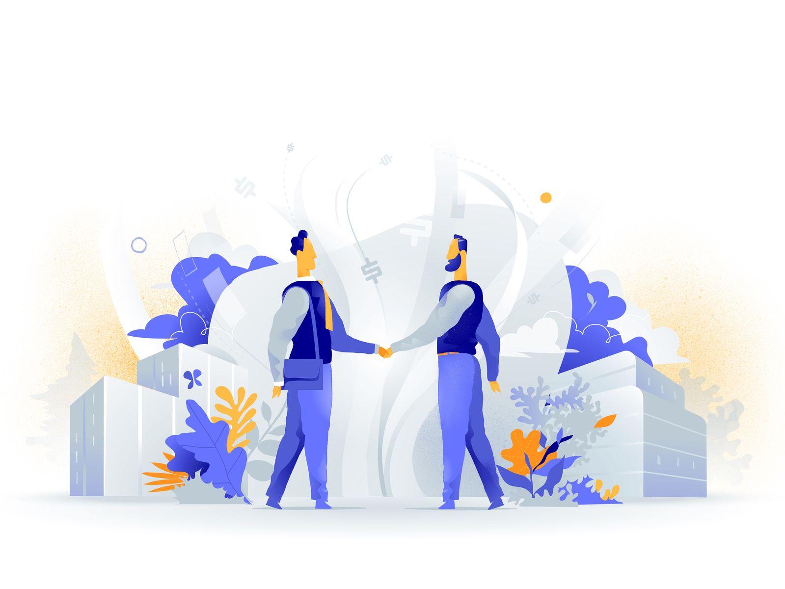Win Win Agreement | Illustration design, Illustration character design, Business illustration