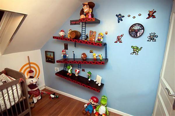 Donkey Kong Book Shelf Nintendo Room Baby Boy Rooms Boy Room