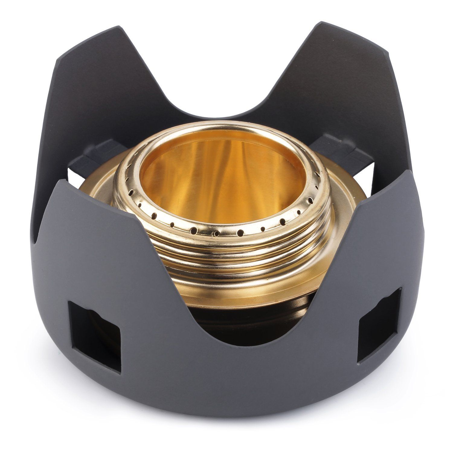 Outdoor Mini Portable Alcohol Stove Burner for Backpacking Hiking Camping