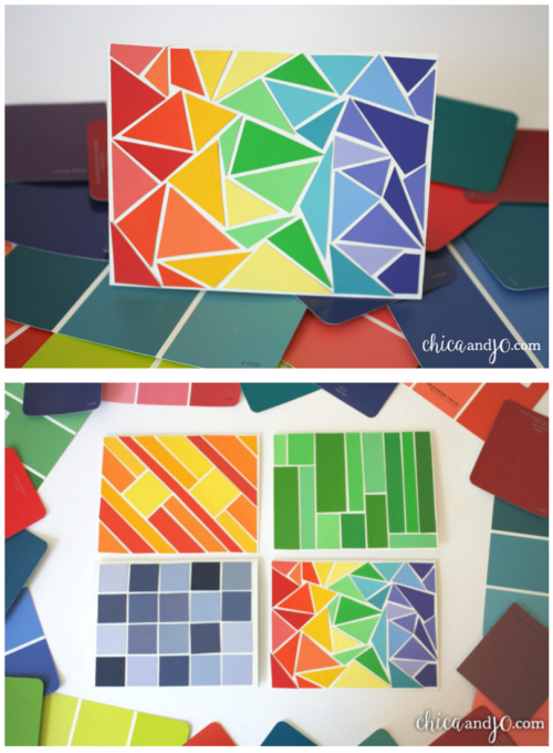 Take a look at these Paint Chip Ideas to make the perfect Paint Chip Crafts! Paint strips can make the most perfect and free craft for the kids.