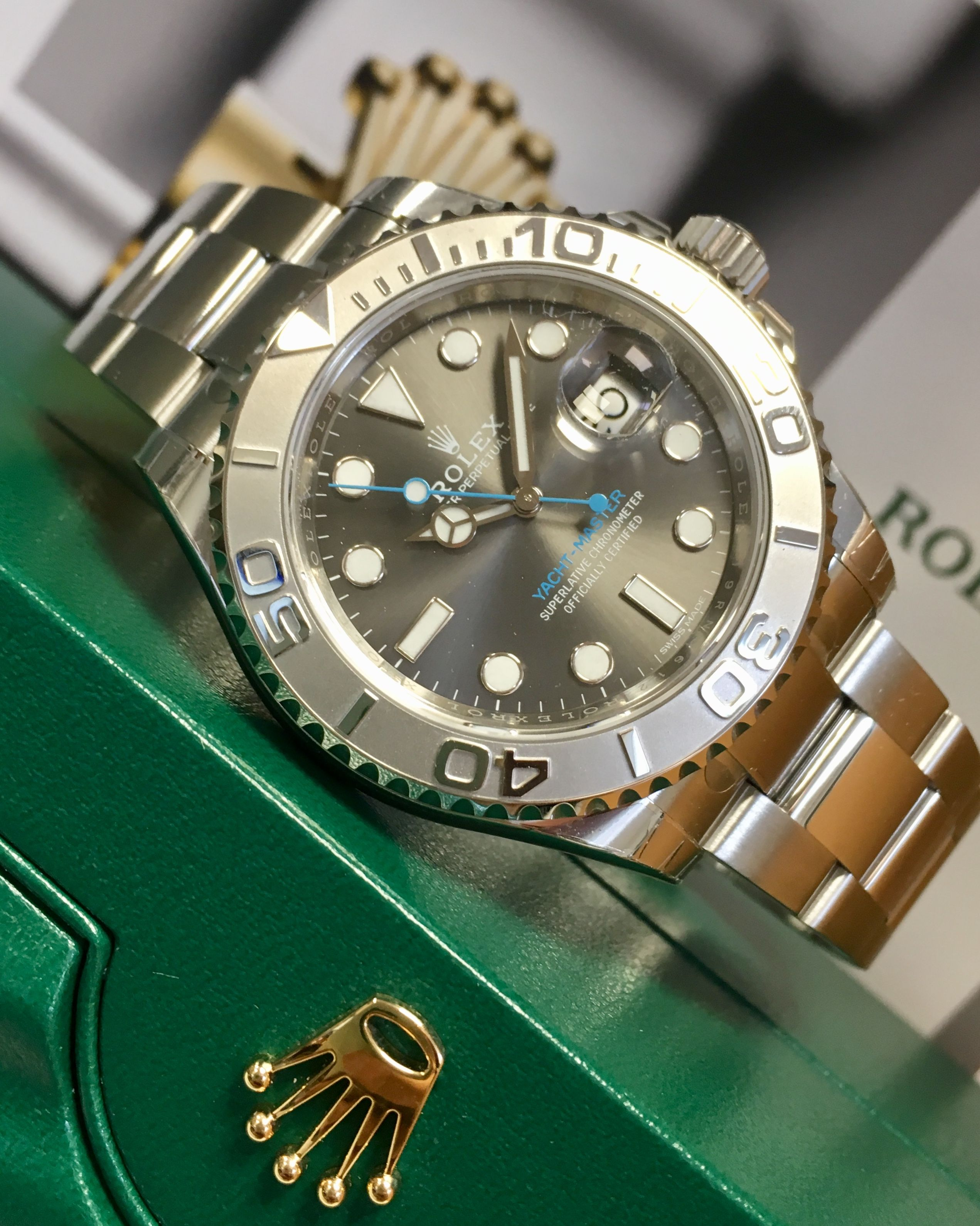 9199ae37038 Rolex Yacht-Master Rhodium Dial 116622