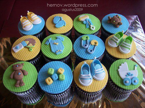 Niau0027s Baby Shower Cupcakes Baby shower cupcakes, Babies and Cup cakes - baby shower nia