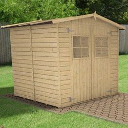 Abri Bois Fisher 5 M With Images Outdoor Structures Patio Shed