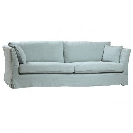 Clic Modern Pale Blue Linen Adelle Sofa Light