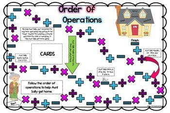 graphic regarding Order of Operations Game Printable named Acquire of Functions Board Recreation Math: Plans Supplies
