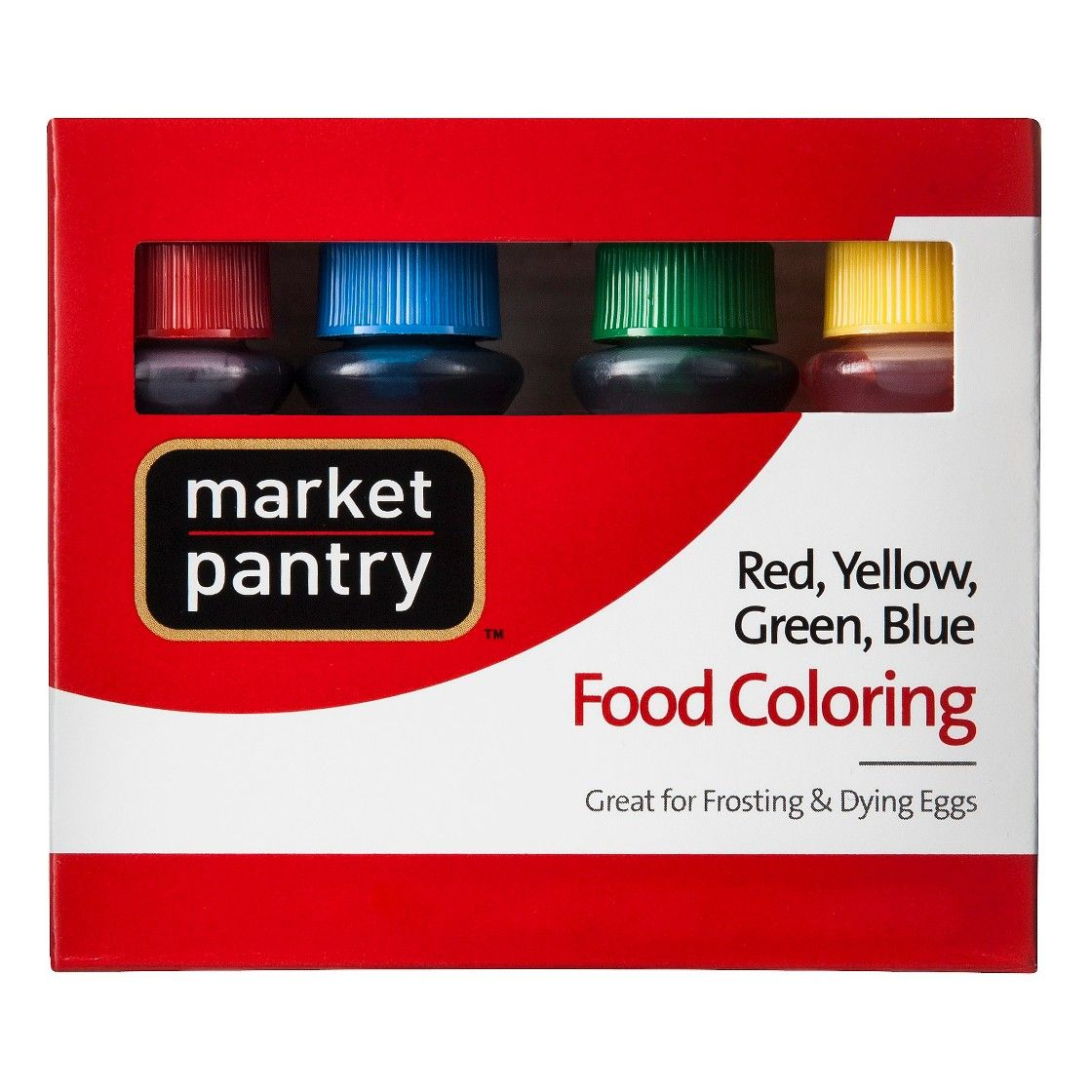 Market Pantry Assorted Food Color Bottles  4 Count