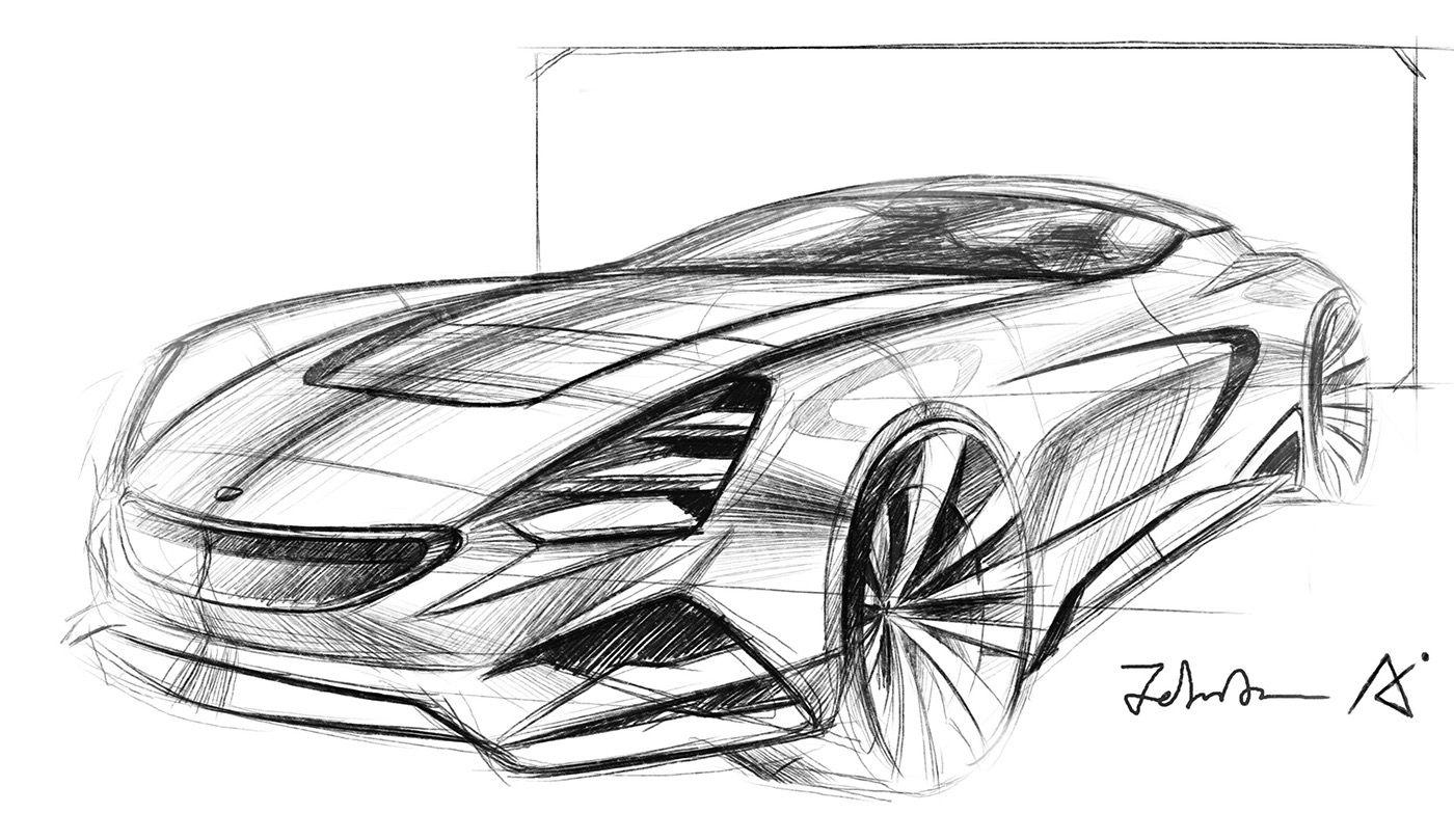 Pingl par eric bisson sur cars sketch pencil design car design sketch industrial design - Croquis voiture ...