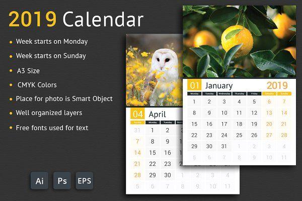 2019 calendar calendar template calendar stationery on office wall colors 2021 id=46476
