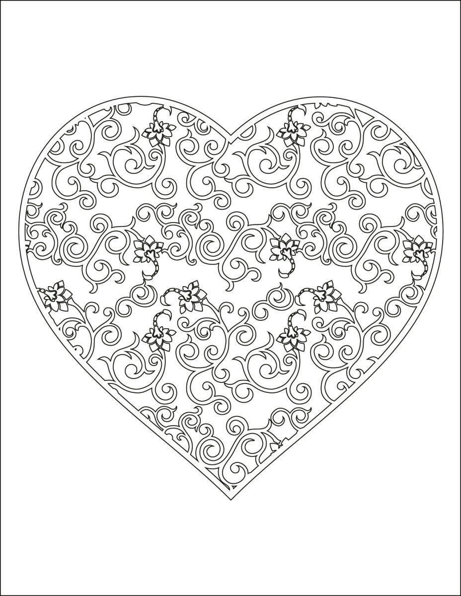 Coloriage A Imprimer Gratuit Coeur Doodle Color Coloring Pages