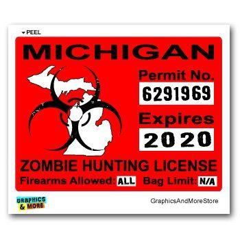 Bumper Sticker Vermont Zombie Hunting Permit