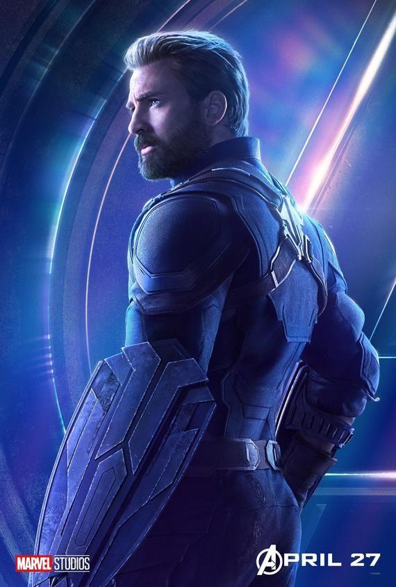 Captain America Avengers: Infinity War Steve Rogers Chris Evans character original poster Marvel comic movie quality print