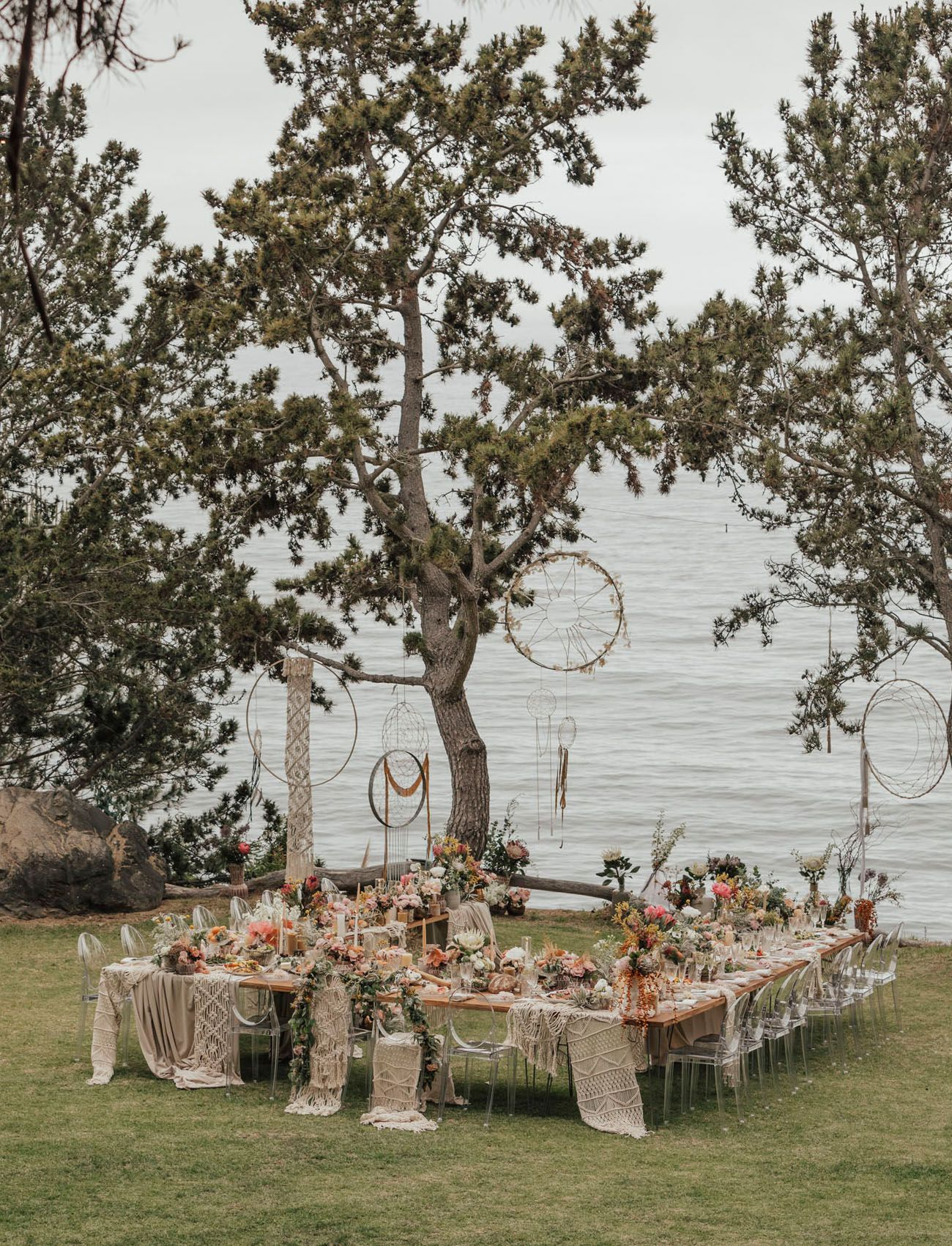 Intimate Big Sur Wedding With A Boho Floral Reception You Have To See Green Wedding Shoes In 2020 Big Sur Wedding Outdoor Wedding Wedding Backyard Reception