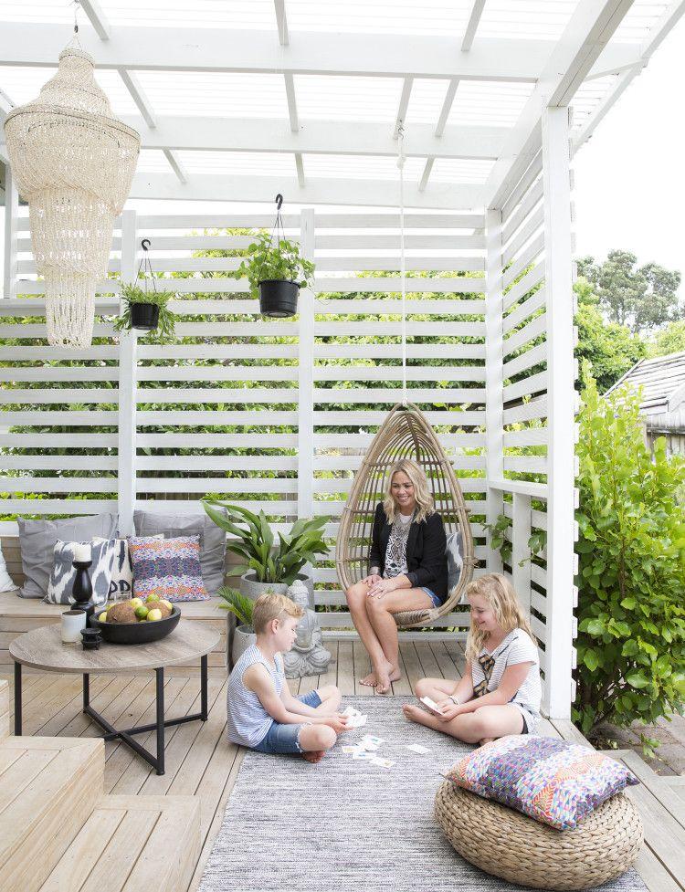 columpio en esquina de pergola con huerto | jardin | Pinterest ...