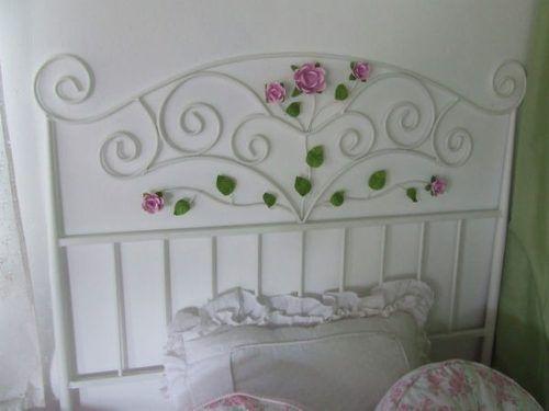 Respaldo de cama en hierro estilo romantico cabeseras - Camas estilo romantico ...