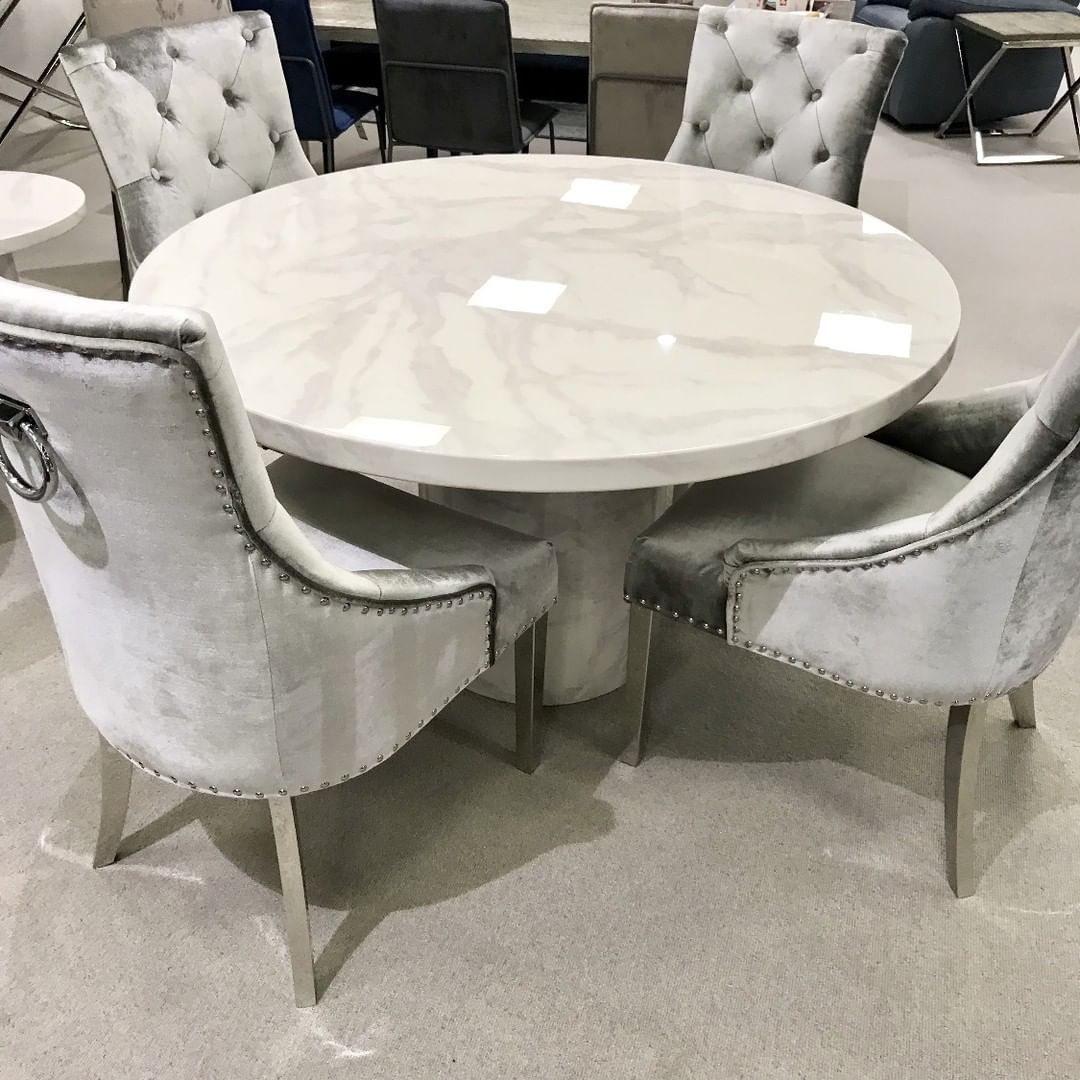 We Love This New Marble Round Dining Table Due In Any Day Now It Looks Fab With Our Belv Round Marble Dining Table Dining Table Marble Luxury Dining Tables