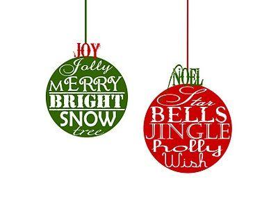 Christmas Ornament Printable