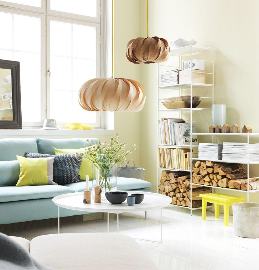 arredamento colori pastello; salotto giallo e azzurro #pastel ... - Arredamento Colori Pastello