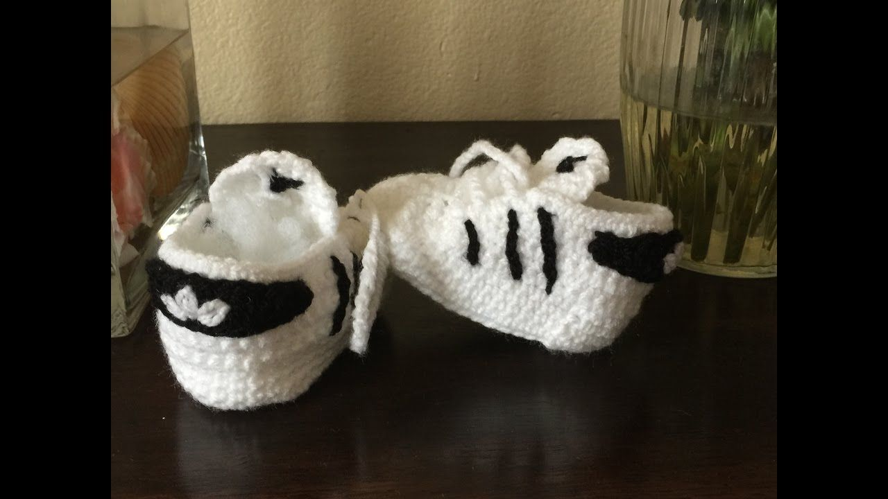 Zapatitos Adidas Para Bebe A Crochet Patik Pinterest
