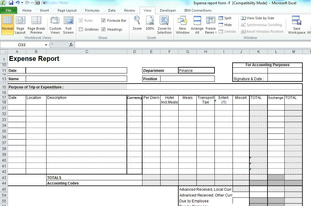 Expense Claim Form  Free Download  Business Templates