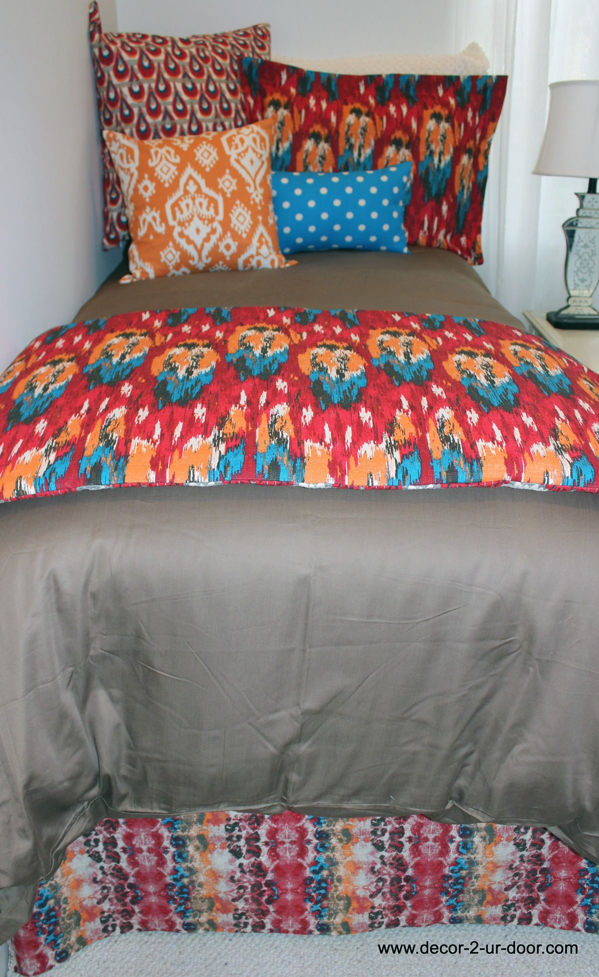Anthropologie inspired bed in a bag set designer headboard custom