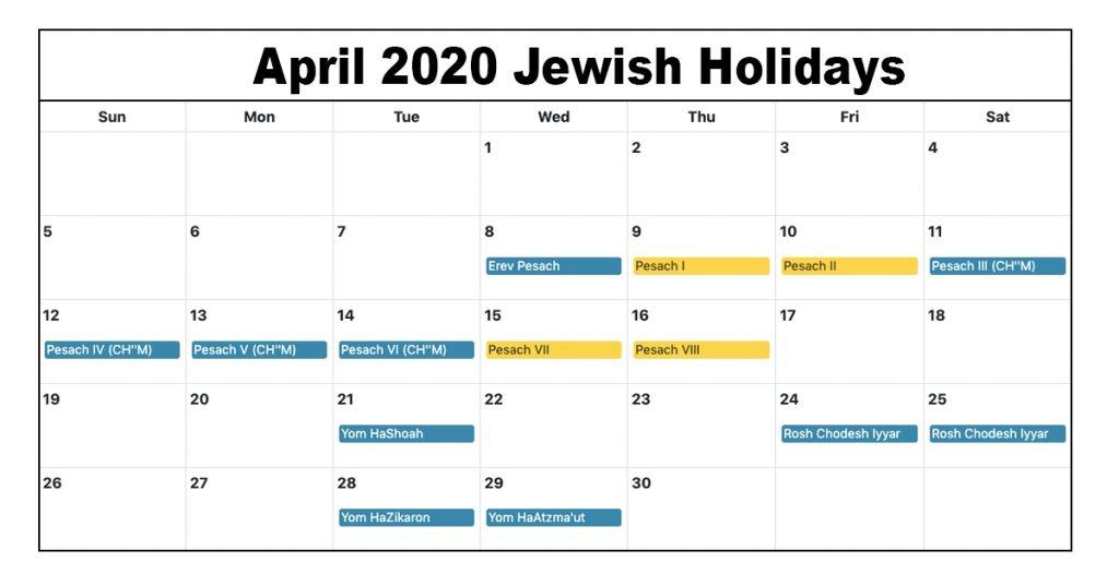 April 2020 Calendar With Holidays For Us Canada India Australia