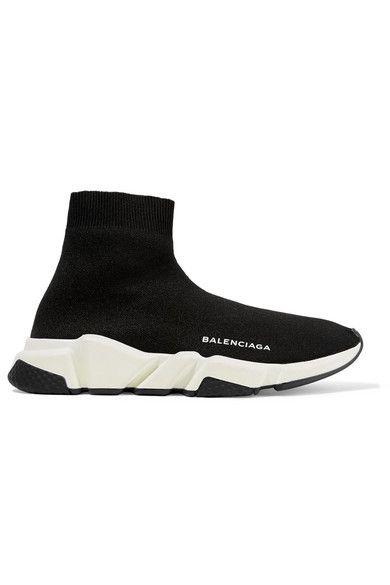 156b97b001250 BALENCIAGA Speed Runner stretch-knit high-top sneakers.  balenciaga  shoes