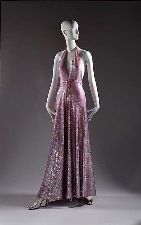 Evening dress - Halston | Maxi skirt/dress | Pinterest | 30er jahre ...