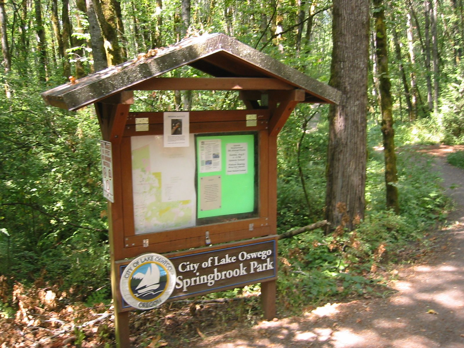 The information kiosk at springbrook park photo by for Garden kiosk designs