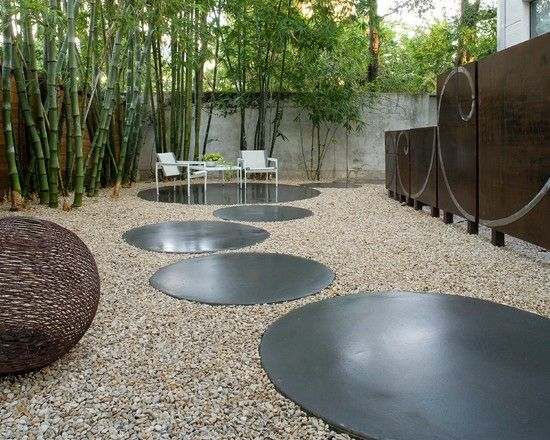 Gestalten mit Kies und Bambus | Garten neu Favoriten | Pinterest ...