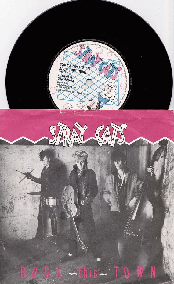 STRAY CATS Rock This Town 1981 Uk Issue Original 7 45