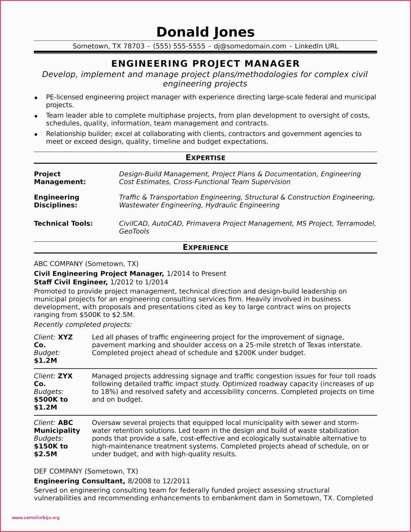 epc project manager resume sample