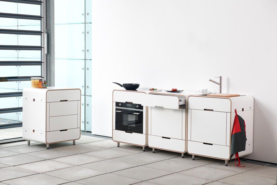 Küchen-designmöbel kleine und kompakte küchen  genau was kleine wohnungen brauchen in
