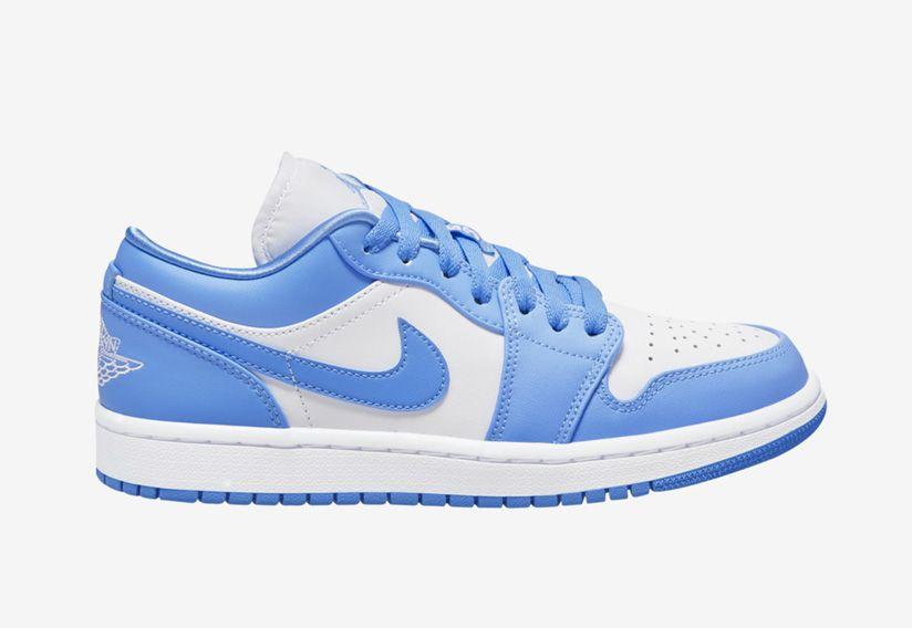 Air Jordan 1 Low Unc University Blue White Ao9944 441 Release Date
