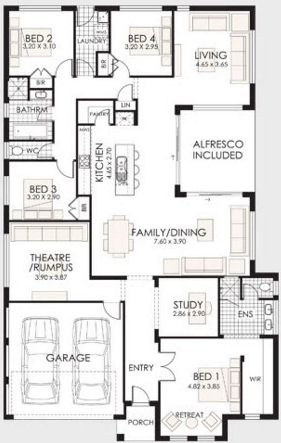 planos de casas modernas un solo piso