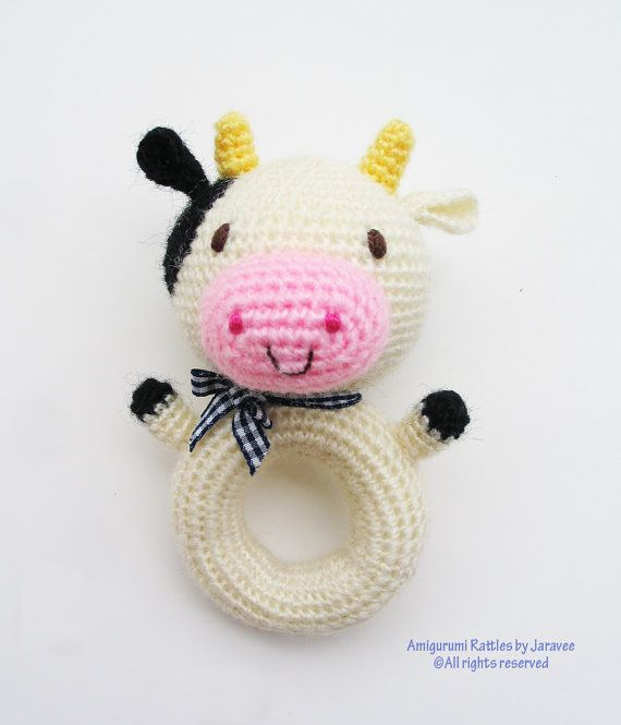 Animal Donut Rattle Toy PDF Crochet Pattern from jaravee op Etsy ...