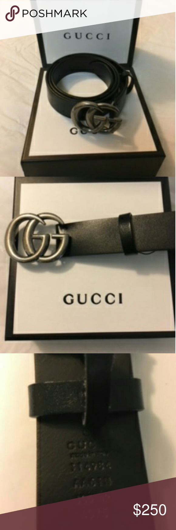 59aa9845dbde GUCCI BELT COME'S WITH ORIGINAL BOX, DUST BAG, AUTHENTIC CARD, SHOPPING BAG.  GUCCI Accessories Belts