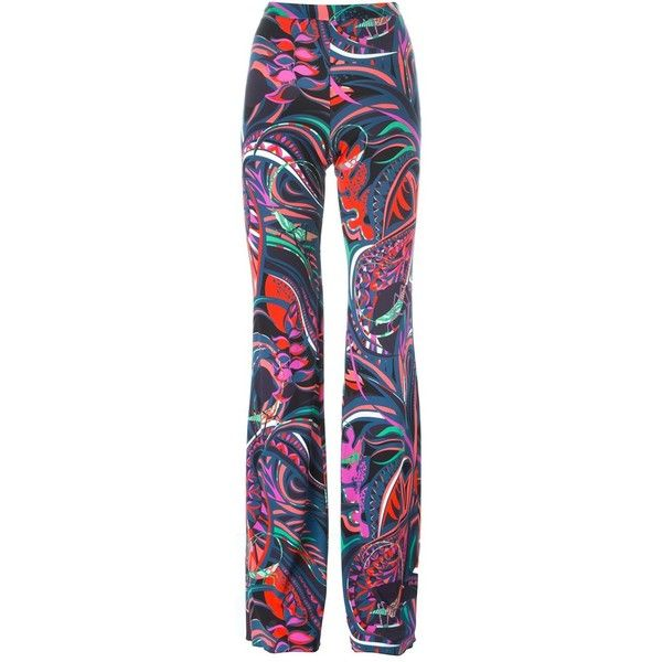 abstract print bootcut trousers - Multicolour Emilio Pucci uuBig