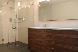 Like The Shower Without Step Long Tiles In Back Splash And Ikea Kitchen Cabinetsbathroom Vanitiesbase