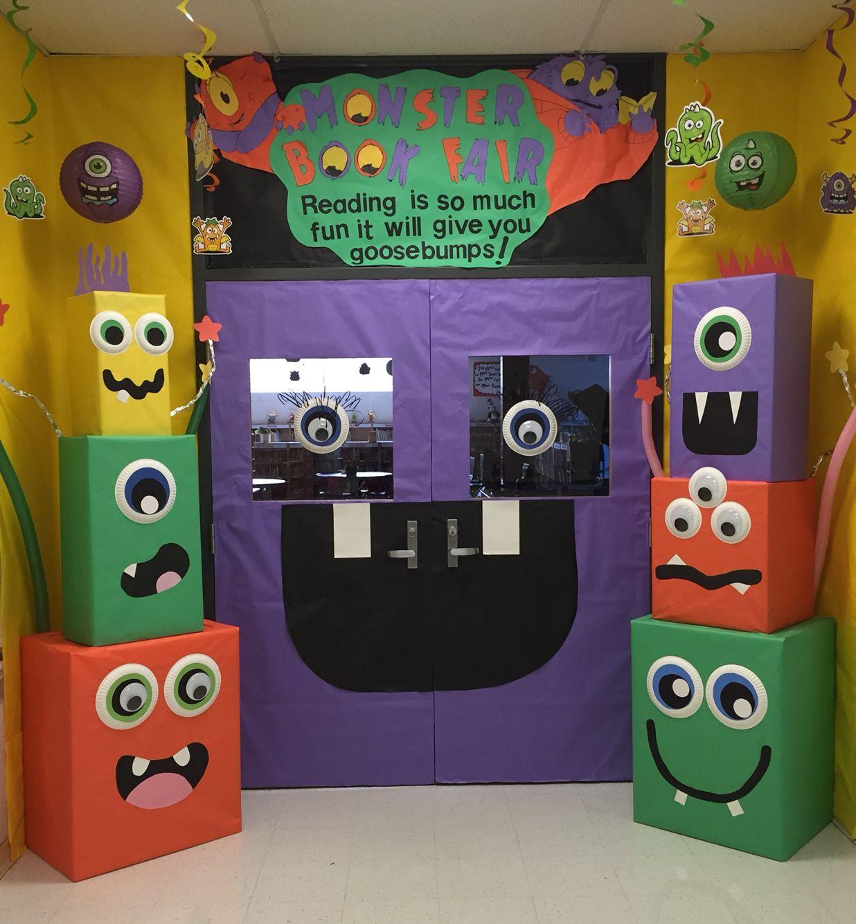 Classroom Decor Scholastic ~ Mckenzie elementary school monster book fair
