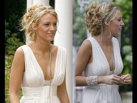 serena van der woodsen white party updo hair tutorial