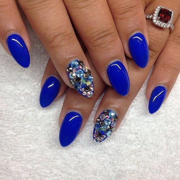 20 Beautiful Almond Nail Designs | Almond shape nails, Almond nails ...
