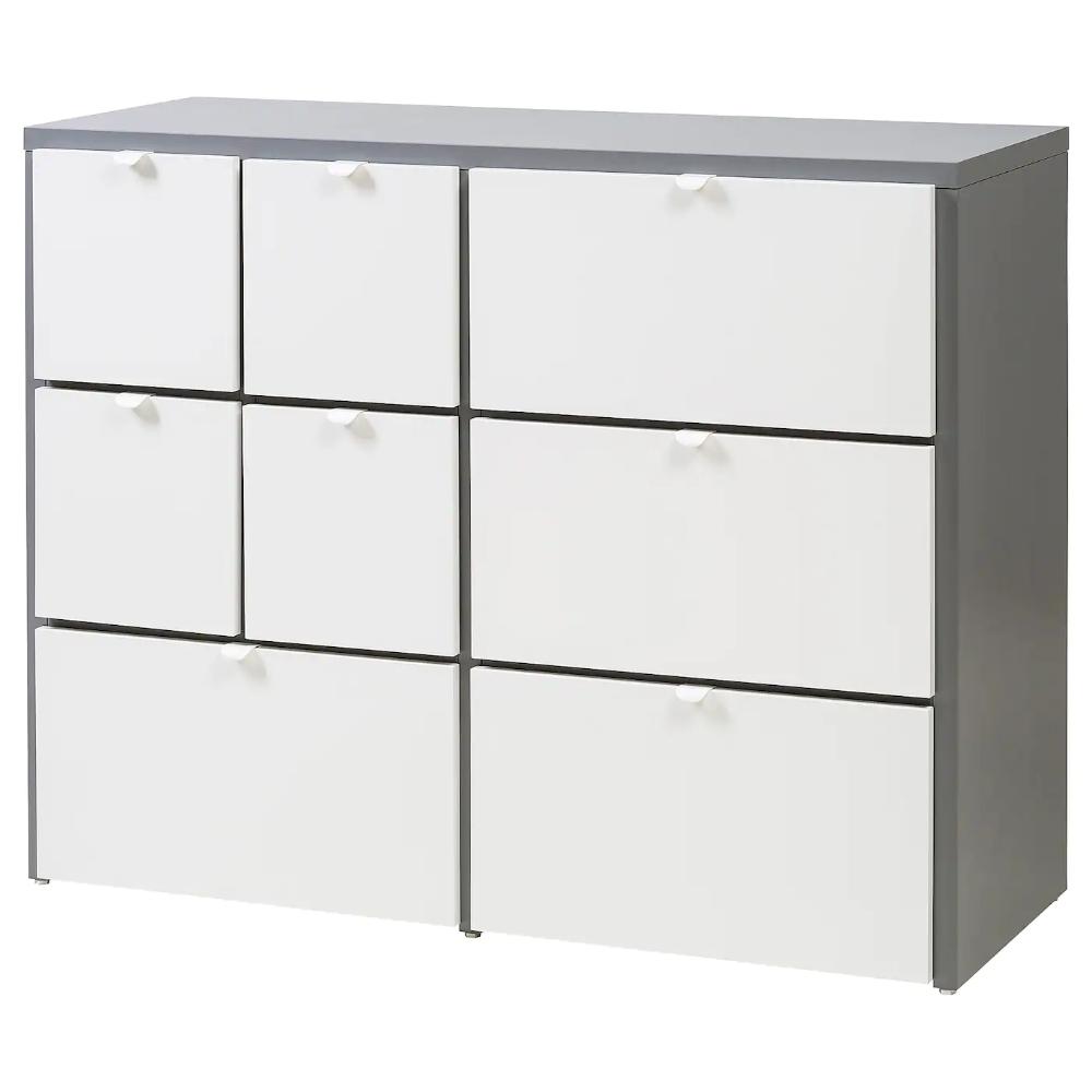 Visthus Kommode Mit 8 Schubladen Grau Weiss Ikea Schweiz