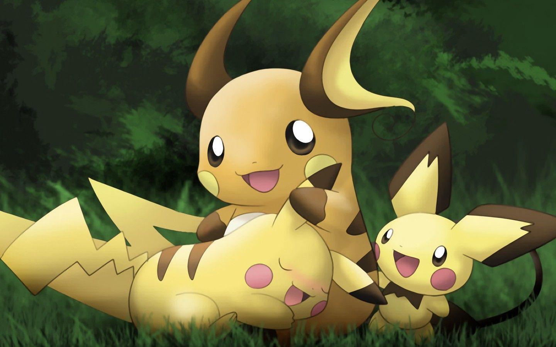 Anime Pokemon Pokemon Raichu Pokemon Pichu Pokemon Pikachu