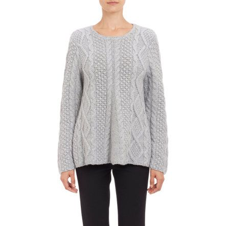 Co Cable-Knit A-Line Pullover Sweater at Barneys.com