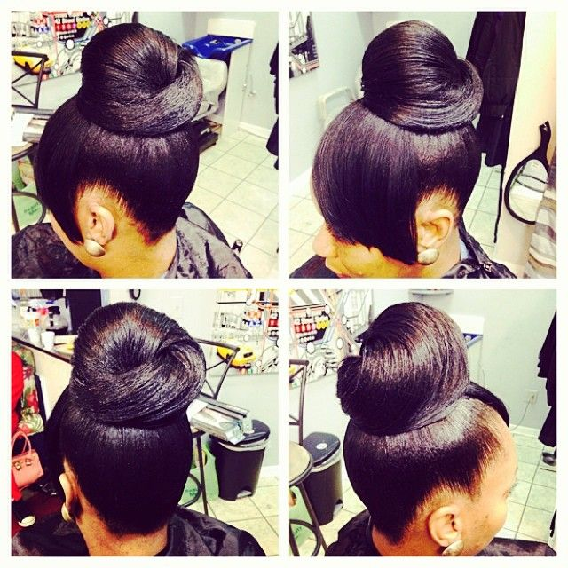 Hair Stylist For Healthy Hair On Instagram Soft Bun By Me Jbabi 3522787575 Lookslikehers Looking Black Hair Updo Hairstyles Black Hair Bun Hair Styles