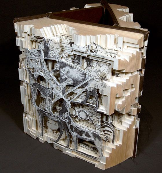 Book surgery: incredible book carving art from brian dettmer